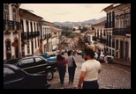 Helton walks down the streets of Ouro Preto