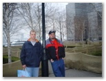 Nathan and Jared February 26 2000 in NY on their way to Brazil at the World Financial Center