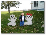 Jared and Ghosts on Halloween