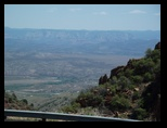 Looking down from Jerome Arizona