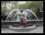 The fountain at City Hall Park in downtown Manhattan